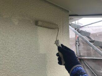 多治見市で屋根外壁塗り替え塗装 シリコン塗装 上塗り 防カビ材