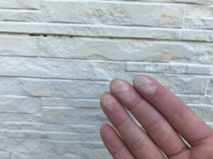 瑞浪市釜戸町で、外壁塗装の現場調査・劣化診断にお伺いしました。