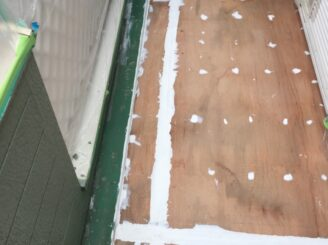 多治見市で屋根積み替え 外壁塗り替え塗装 ベランダ防水工事 床板
