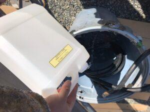 中津川市坂下で外壁塗装のバイオ洗浄と高圧水洗浄を行いました。
