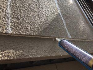 中津川市、外壁のコーキング補修