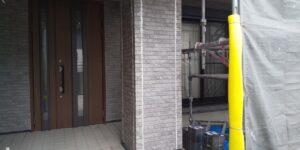 中津川市、外壁の目地の打ち替え完了