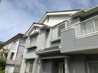 多治見市 瑞浪市 屋根積み替え 外壁塗り替え塗装  外壁色の退色 塗膜剥離 塗り替え前