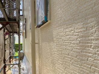 多治見市で屋根外壁塗り替え塗装 シリコン塗料で塗り替え  基礎に亀裂 樋に錆び 目地打ち替え 外壁上塗り 防カビ材