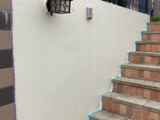 多治見市で屋根外壁塗り替え塗装 シリコン塗料で塗り替え  基礎に亀裂 樋に錆び 目地打ち替え 塀塗り替え
