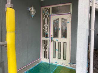 多治見市で屋根外壁塗装 屋根フッ素塗装 外壁シリコン塗装 養生完成