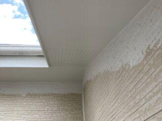 多治見市で屋根外壁塗り替え塗装 シリコン塗料で塗り替え  基礎に亀裂 樋に錆び 樋に汚れ 外壁塗り替え 軒天塗装