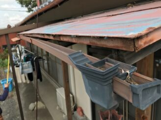 多治見市 瑞浪市で外壁塗装 塗り替え前の状態 色の退色