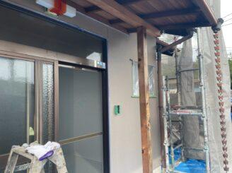 多治見市 瑞浪市で外壁一部塗装 お風呂交換工事 外壁塗り替え塗装 上塗り完成