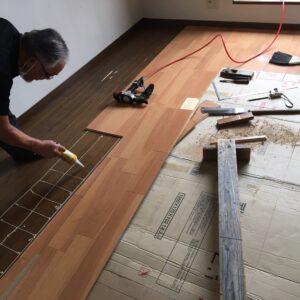 多治見市土岐市 床張り 床の修理