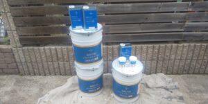 中津川市で「超低汚染プラチナリファイン2000MF」で中塗り塗装です