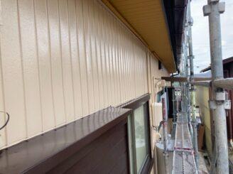 多治見市で平屋の外壁塗り替え塗装 ラジカルシリコンGH 防カビ材 外壁塗装 上塗り塗装