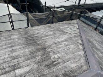 土岐市 瑞浪市 屋根外壁塗り替え塗装工事 屋根塗膜の剝がれ 色の退色 フッ素塗料 屋根高圧水洗浄 高圧洗浄 バイオ洗浄