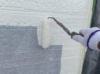 土岐市 瑞浪市 屋根外壁塗り替え塗装工事 外壁中塗り塗装 超低汚染プラチナリファイン2000MF フッ素塗料 低汚染性