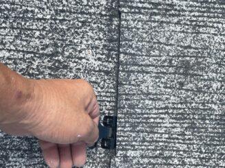土岐市 瑞浪市 屋根外壁塗り替え塗装工事 屋根塗膜の剝がれ 色の退色 フッ素塗料 屋根タスペーサー取付 縁切り