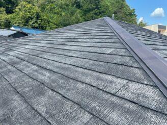 土岐市 瑞浪市 屋根外壁塗り替え塗装工事 屋根塗膜の剝がれ 色の退色 フッ素塗料 屋根タスペーサー取付 縁切り タスペーサー取付完了 完成