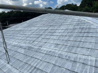 土岐市 瑞浪市 屋根外壁塗り替え塗装工事 屋根塗膜の剝がれ 色の退色 フッ素塗料 棟板金 屋根下塗り塗装 錆止め