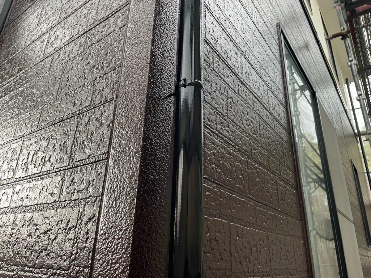 土岐市 多治見市で外壁塗装 外壁塗り替え工事 付帯部塗装 樋の塗り替え