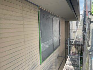 土岐市 瑞浪市で外壁塗装 現調時のお家の状態 施工前 塗り替え前 フッ素塗料で塗り替え 外壁に汚れ汚れ 亀裂 チョーキング現象 基礎亀裂 バイオ洗浄 高圧水洗浄 高圧洗浄 養生完成