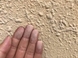 多治見市で平屋の外壁塗り替え塗装 ラジカルシリコンGH 外壁塗膜剥離 チョーキング現象 塗り替え前