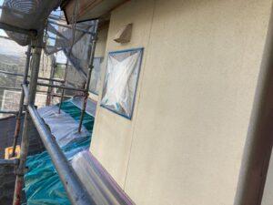 多治見市で外壁塗装の現場です。本日は、養生をしました。