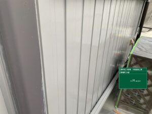 瑞浪市、板金外壁の下塗り塗装完了