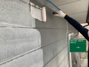 瑞浪市、サイディング外壁の下塗り塗装