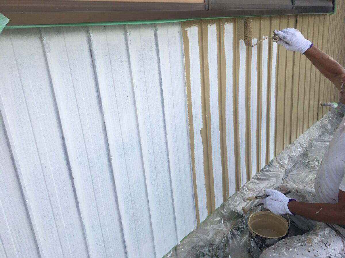 多治見市土岐市 トタン壁の塗装 トタンの塗り替え