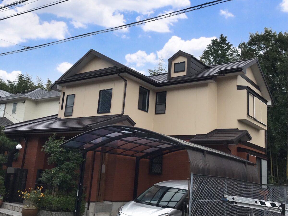 多治見市で外壁塗装 屋根カバー工法 ガルバ アイジー工業 塗り替え完成 塗装完成 塗り替え後 完成後