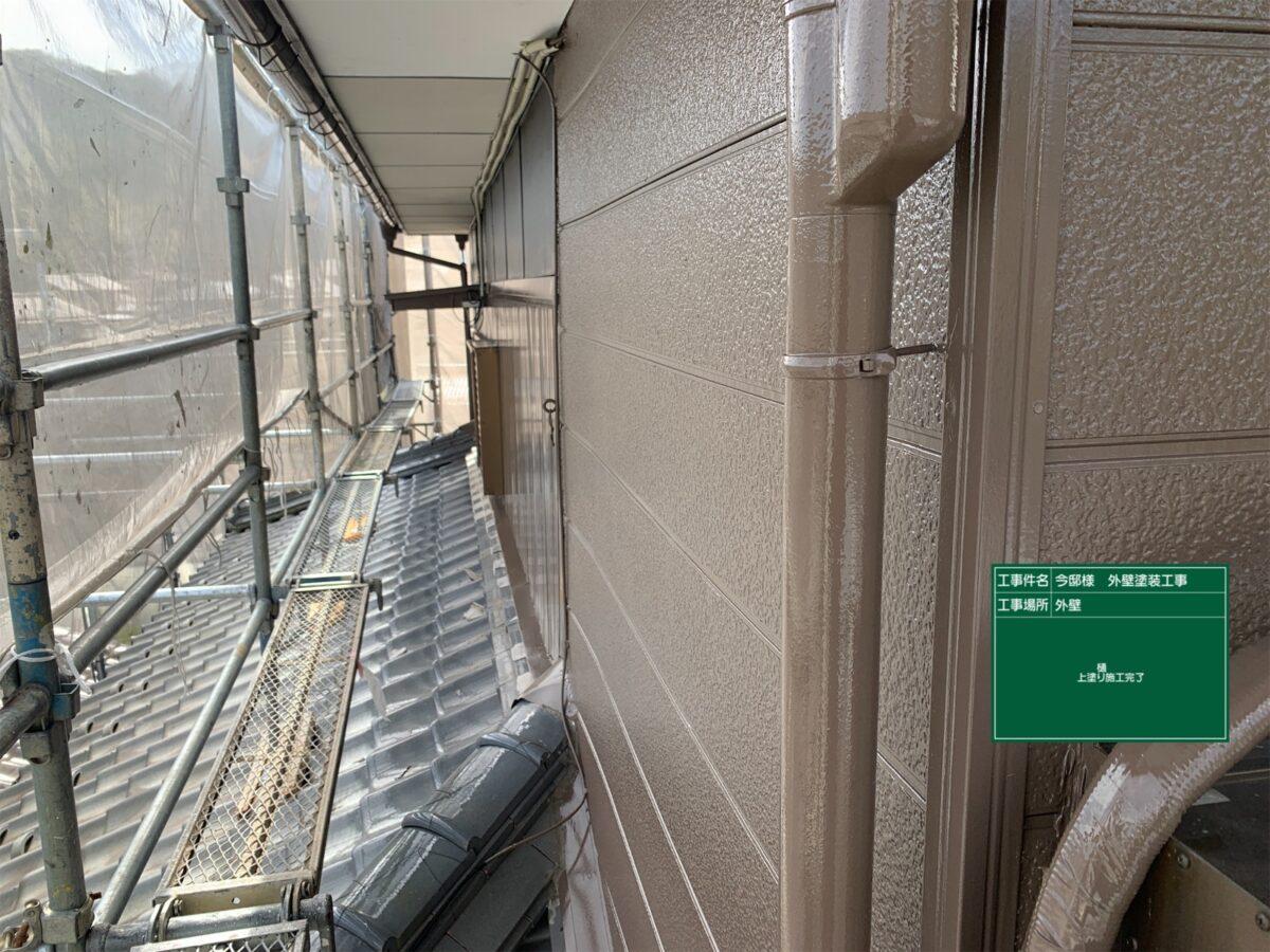中津川市、たて樋塗装、完了
